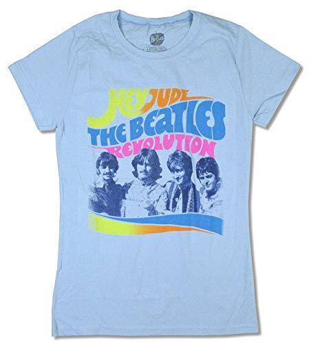 Beatles Hey Jude Revolution Girls Juniors Blue T Shirt ()