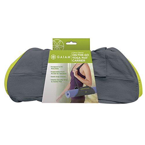 Gaiam On-The-Go Yoga Mat Carrier, Storm