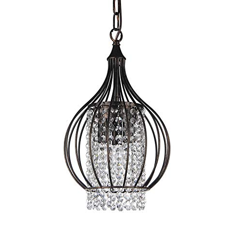 Light Chandelier Countryside 3 - GlanzLight,GL-63339B,Bird Cage Ceiling Light Fixture 3 Lights Pendant Light for Warehouse,Antique Round Metal Chandelier,Table Lamp for Living Room with Flushmount