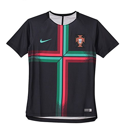 Replica Portugal Jersey - NIKE 2018 Portugal Youth Squad Top- Black M