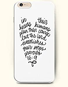 iPhone Case,OOFIT iPhone 6 (4.7) Hard Case **NEW** Case with the Design of in their hears humans plan their courage but the lord established their attps proverbs 16:9 - Case for Apple iPhone iPhone 6 (4.7) (2014) Verizon, AT&T Sprint, T-mobile by icecream design