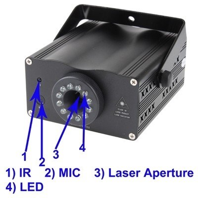 stage lighting 2-Colors Mini Disco DJ Club Stage Light with Sound Active Function by stage lighting (Image #2)