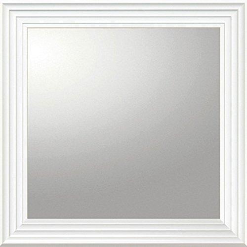 ユーパワー Big Mirror デコラティブ大型ミラー シャープ/正方形 ホワイト BM-16022 B01N3QOXI7 W71.5xH71.5cm ホワイト ホワイト W71.5xH71.5cm