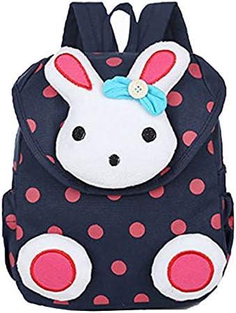 Mignon Rabbit Kid sac à dos petit sac d'école pour les filles livre sac pour enfant de moins de 3 ans (Bleu)