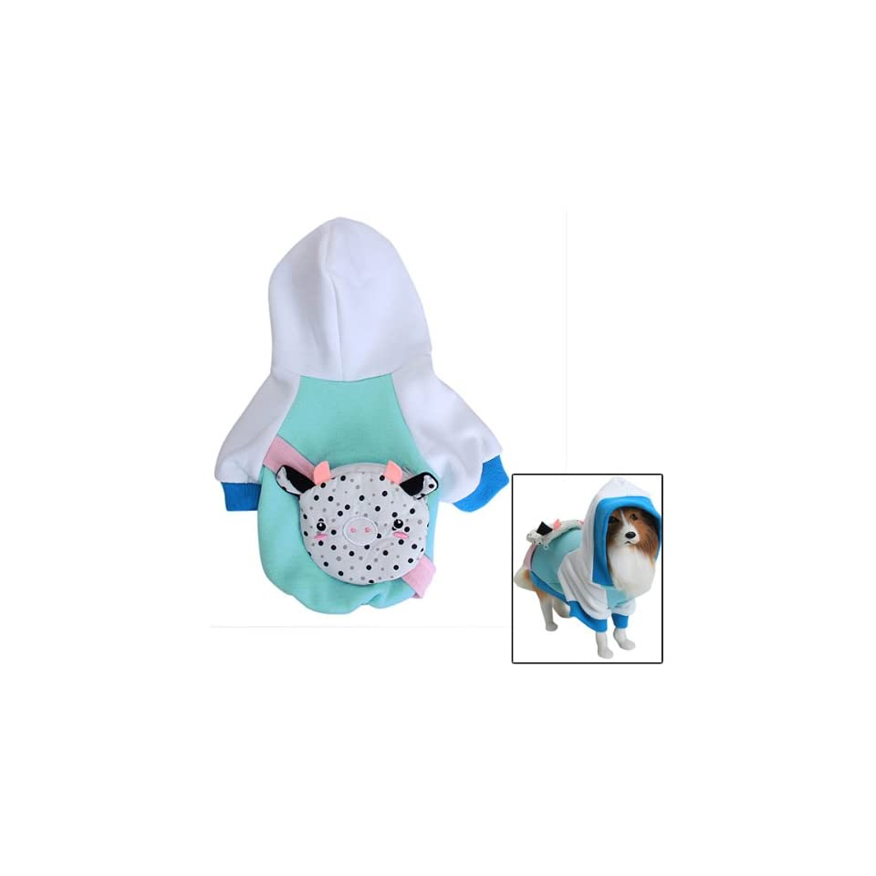Dog Hoodie Hooded Coat Clothes w/ Backpack   S