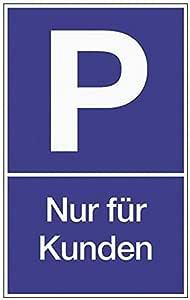 Cartel de aparcamiento para clientes B.250xH.400mm plástico ...