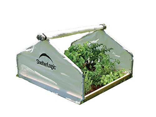 ShelterLogic GrowIT Peak Raised Bed Greenhouse, 4 x 4 x 2 ft.