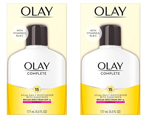 Olay Complete Lotion All Day Moisturizer with SPF 15 for Normal Skin, 6.0 fl oz, Pack of 2 by Olay
