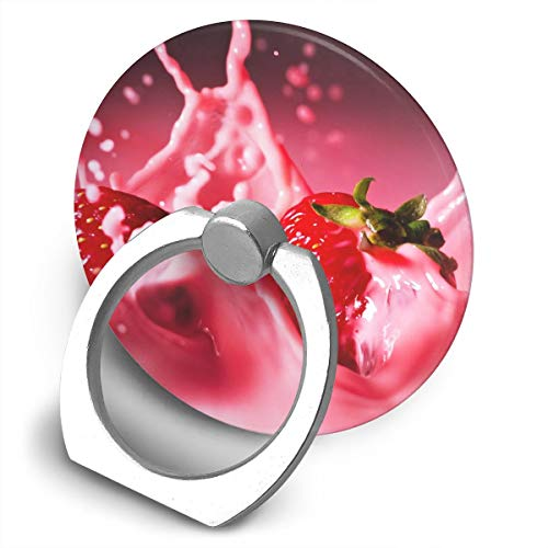 Round Finger Ring Cell Phone Holder Fruit Juice Drink 360 Degree Rotating Stand Grip Mounts -