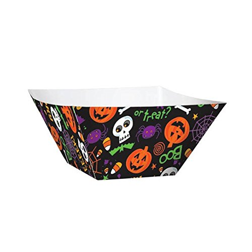 amscan Spooktacular Halloween Party Snack Bowl Tableware, Paper, 2