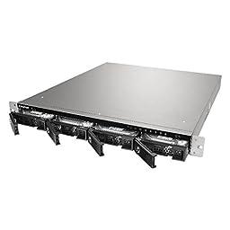 QNAP TS-453U 4-bay 1U iSCSI NAS, Intel 2.0GHz Quad Core CPU with 4GB RAM, 2.5\