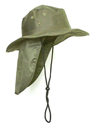 Explorer Mens (TOP HEADWEAR Safari Explorer Bucket Hat With Flap Neck Cover - Olive, XL)