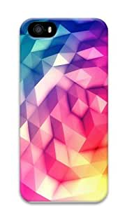 cubed color PC Case Cover for iPhone 5 and iPhone 5s 3D