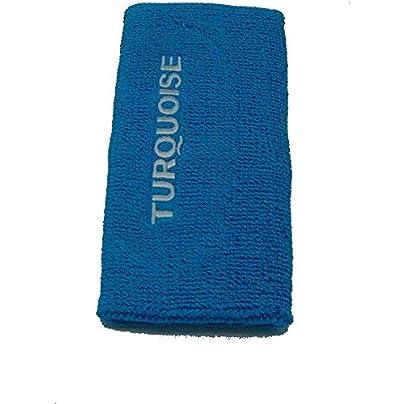 Turquoise Cuff Long Wristband Beach Tennis Blue Estimated Price £7.67 -