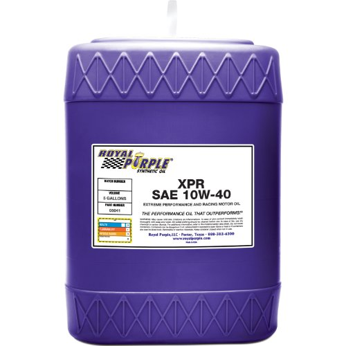 (Royal Purple 05041 XPR 10W-40 Extreme Performance Synthetic Racing Motor Oil - 5 gal.)
