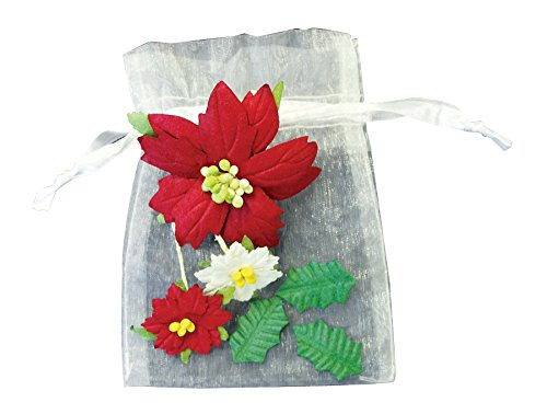 Blue Hills Studio BHS750 Irene's Garden Bag O'Poinsettias BAG O POINSETTIAS 6bgs (Irene Bag)