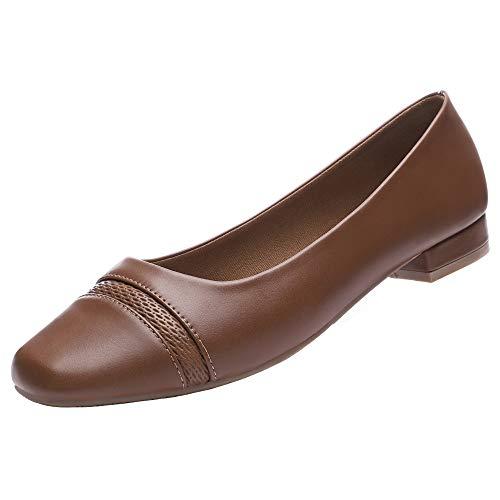 Buy brown shoes women flats