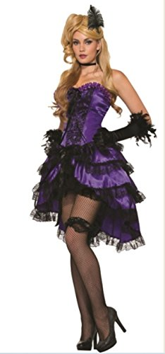 Saloon Girl Adult Costume Purple - Standard - Purple Burlesque Costumes