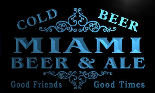 Miami Neon Sign (qs2094-b Miami Beer & Ale Vintage Design Bar Decor Neon Light Sign)