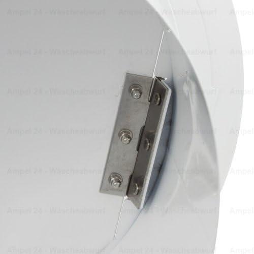 Wei/ß W/äscheabwurf Einwurft/ür zusammenklappbar rund f/ür Durchmesser: 300/mm