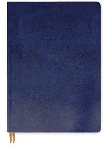 DesignWorks Ink Leather Bound Flex Journal, 7.13 x 10-Inches, Indigo