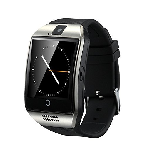 Efanr Q18 Bluetooth Smart Watch with Camera Sim Card Slot, Wrist Watch Smartwatch Pedometer Fitness Activity Tracker Monitor for Android Samsung iOS iPhone X 8 Plus Men Women (Silver)
