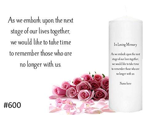 - In Memorial Candle for weddings Memory Candle to honor a loved one at your Wedding