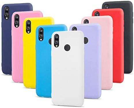 9X Cover per Huawei P20 Lite, Morbido Silicone Case Tinta Unita Ultra Sottile Custodia TPU Flessibile Gomma Protezione Posteriore Antiscivolo ...