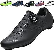 ziitop Men's Cycling Shoes,Mens Road Bike Shoes,Mountain Biking Shoes Breathable,Bike Shoes with Buckle,Mo