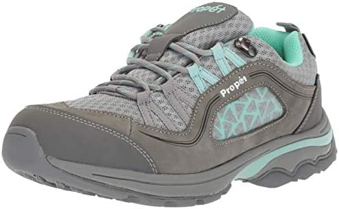 Propet Women s Piccolo Hiking Boot, Grey Mint, 12 2E US