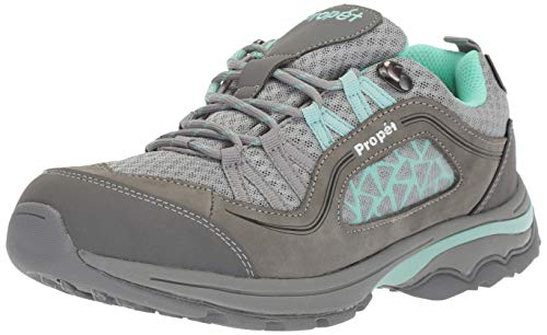 Image of Propet Women's Piccolo Hiking Boot, Grey/Mint, 6H Medium US
