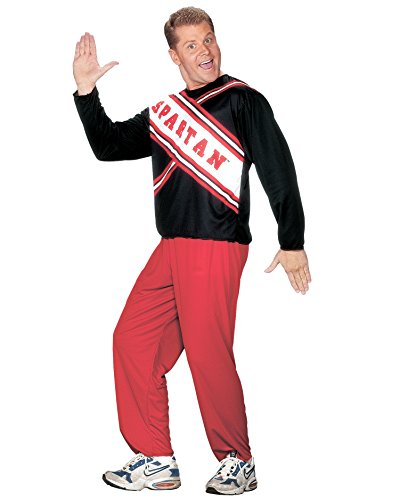 (Cheerleader Spartan Guy Mens Cheerleader Costume Couples Theatre Costumes Sizes: One)
