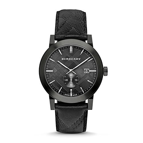 Burberry Watch Swiss Made Black Leather - Watch Men Burberry