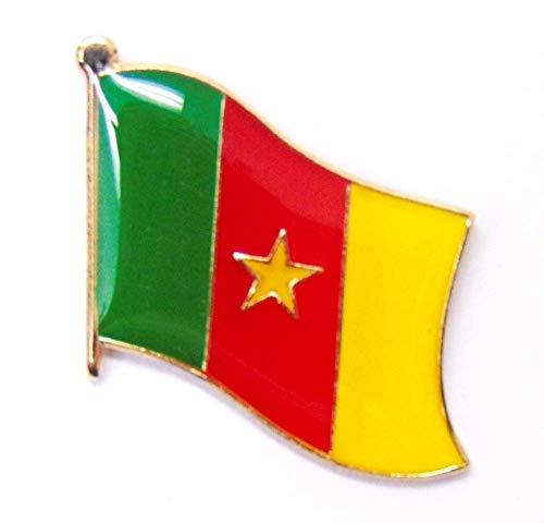 Pack of 3 Cameroon Single Flag Lapel Pins, Cameroonian Pin Badge
