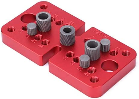 Self Centering Dowelling Jig Kit 3-in-1 Woodworking Punch Positioner Locator Round Raft Puncher