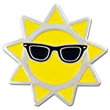 PinMart's Cool Sun with Sunglasses Summer Enamel Lapel Pin