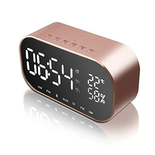xingganglengyin Creative Alarm Clock Bedside subwoofer Bluetooth Speaker Mobile Phone Wireless Bluetooth Speaker by xingganglengyin (Image #1)