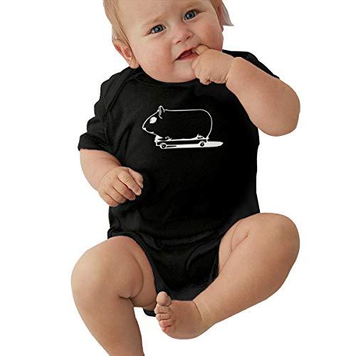 Skateboarding Guinea Pig Baby Clothes Babies Boys' Short-Sleeve Romper Bodysuit Jumpsuit -