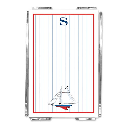 "Chatsworth AZNPA38-SI-W-C ""Letter C"" in Acrylic Sailboat ..."