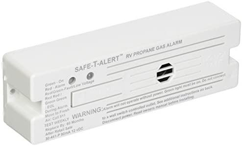 MTI Industries 30-441-P-WT Safe T Alert 30 Series Propane LP Gas Alarm – Surface Mount, White