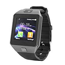 uxcell® DZ09 Camera Anti-lost Sleep Monitor SIM Card MP3 Player Smart Watch Silver Gray for IOS Android Phone