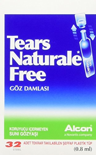 TEARS Naturale Free Lubricant Eye Drops 0.03 Oz.X 32 Vials -
