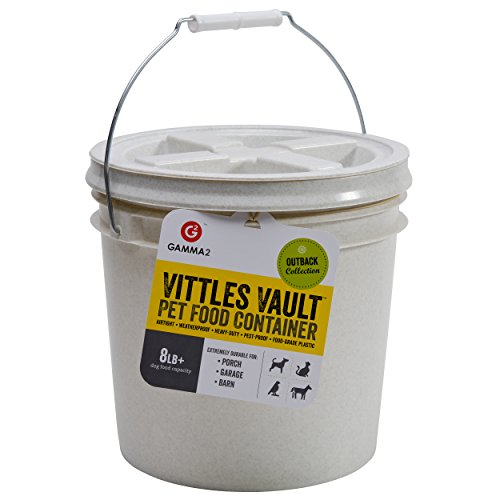 GAMMA2 Vittles Vault 8 lb Airtight Bucket Container for Food Storage, Food Grade and BPA - 6 Bucket Lb