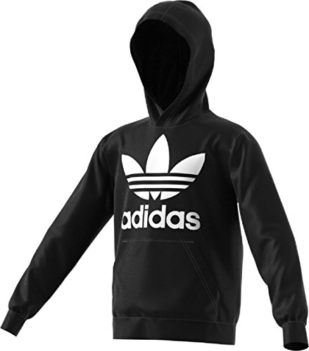 adidas Originals Big Kids Originals Trefoil Hoodie, Black/White, XL