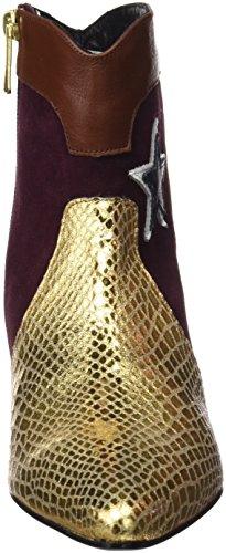 CUPLE Serpiente/Oro/Vino/Setter, Botines Para Mujer ORO VINO SETTER