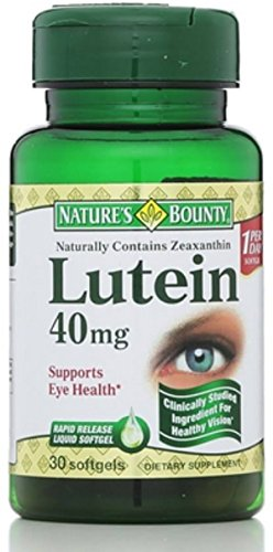 Nature's Bounty Lutein 40 mg Softgels, 30 ea (Pack of 12) by Nature's Bounty