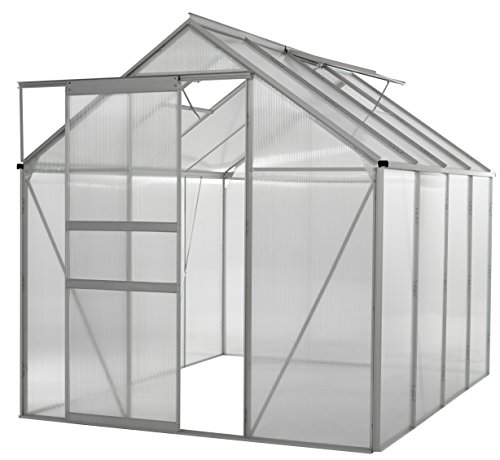 (Portable Greenhouses for outdoors | 6 X 8 Greenhouse | Sunroom | Large Green House for plants |Aluminum Patio greenhouse plastic panels |Glass Greenhouse kits |Large greenhouses for outdoors by Ogrow)