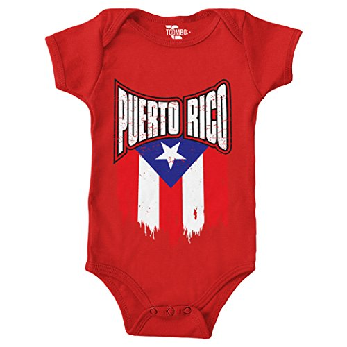 Puerto Rico with Flag Bodysuit (Red, 12 Months)