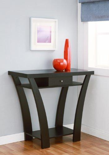 Furniture of America Enitial Lab Ella 1-Drawer Console/Sofa Table, Black