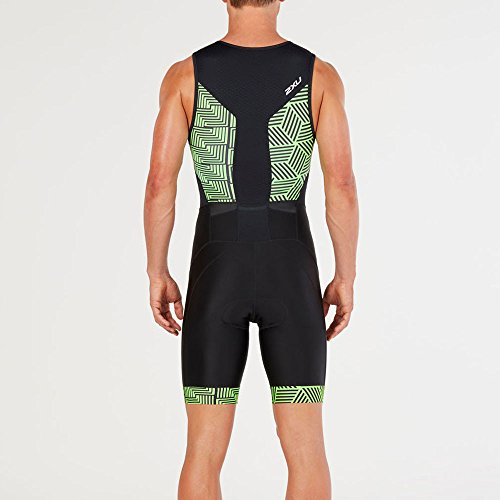geo 2xu Front Black Green Zip Perform Neon ZSSpBn